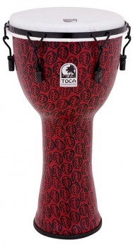 """Toca Freestyle 2 Series Mech Tuned Djembe 12"""" in Red Mask"""