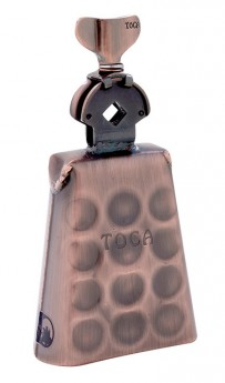 Toca Pro Line Low-Rut Cowbell in Black Copper with Mount