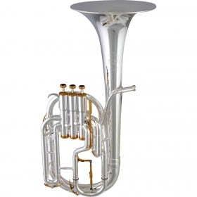 01-13442 Besson BE2050-2-0 Prestige Tenor Horn Outfit Silver Plate