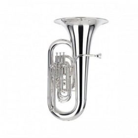 01-13680 BE982-2 Besson Sovereign EEb Tuba Outfit 4 Valves Compensating Silver Plate