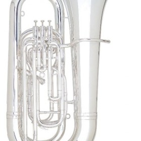 01-13740 BE994-2 Besson Sovereign BBb Tuba Outfit 4 Valves Compensating Silver Plate