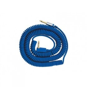 VOX VCC090 BLUE COILED GUITAR CABLE