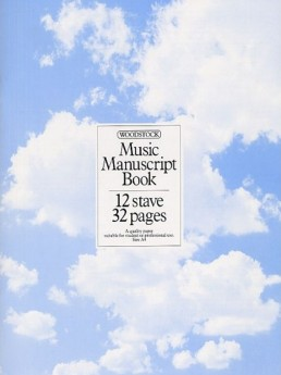 Music Manuscript Book, 12 Stave 32 Pages