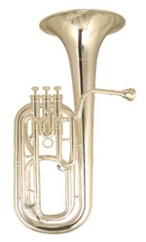 WI-DBH-600SP Wisemann Baritone Horn Bb Silverplated, 3 Stainless Steel Pistons, Slides, Leadpipe And Bell Yellow Brass. Bell Size 231.4Mm (9.10??_) Bore Size 12.8Mm (.504??_) In Case And M/P