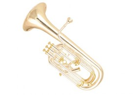 WI-DBH-700SG Wisemannn Baritone Bb. Non Compensating Style, Silverplated Finish, Gold Plated Trims, 3 +1 Stainless Steel Pistons, .504??_ Bore, 9.10??_ Bell, Wisemann Case & Mouthpiece