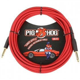 Pig Hog Candy Apple Red Instrument Cable 20ft