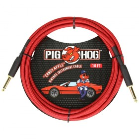 Pig Hog Candy Apple Red Instrument Cable 10ft