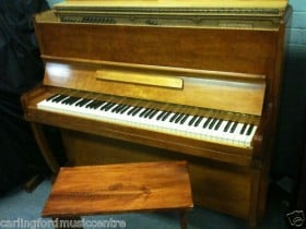 VICTOR Upright PIANO with STOOL & FREE METRONOME