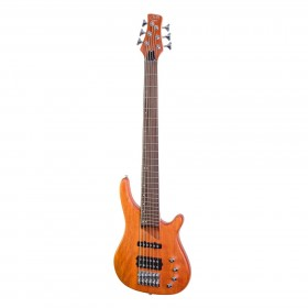 J&D Luthiers 6-Stringing T-Style Contemporary Active Bass Guitar (Natural Satin)