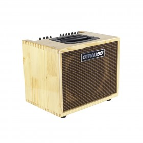 STRAUSS SAA-T60 60 WATT ACOUSTIC GUITAR AMPLIFIER COMBO WITH EFFECTS (Natural Gloss)