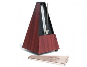 WITTNER W812K Metronome Pyramid Style with Bell Key Wound Mahogany
