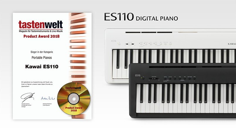Kawai ES110: Tastenwelt magazine 2018 'Portable Piano' product award winner